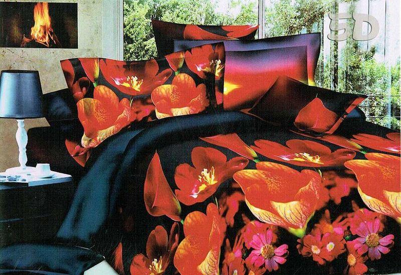 Комплект белья МарТекс Жаклин, 2-спальный, наволочки 70х70. 01-1070-201-1070-2