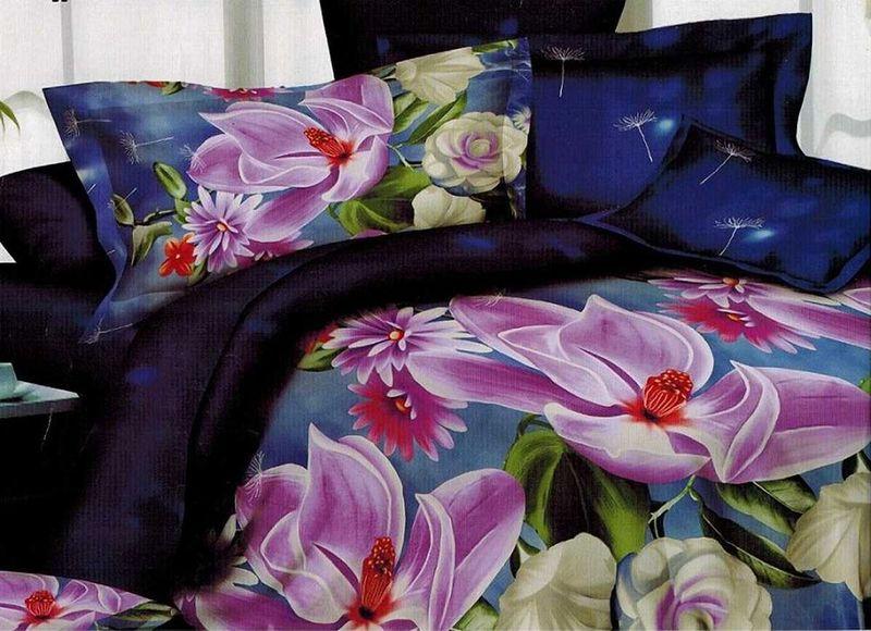 Комплект белья МарТекс Лилит, 1,5-спальный, наволочки 70х70. 01-1105-101-1105-1