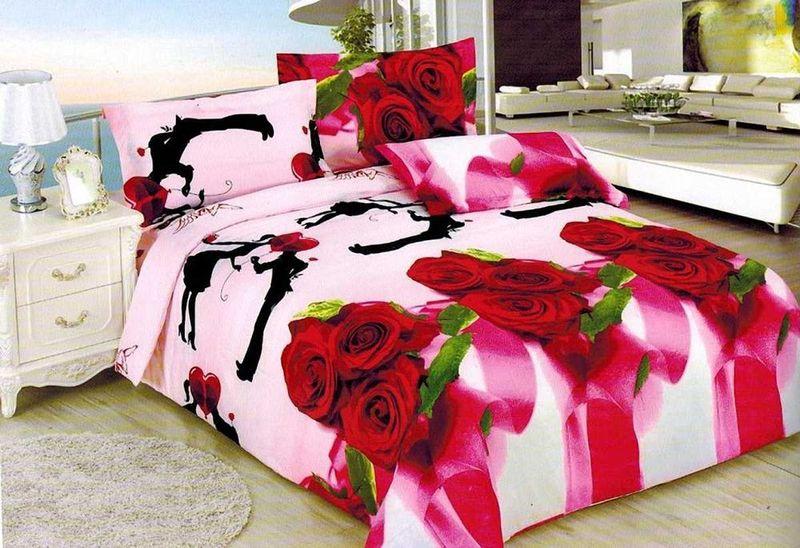 Комплект белья МарТекс, 2-спальный, наволочки 70х70. 01-1133-201-1133-2