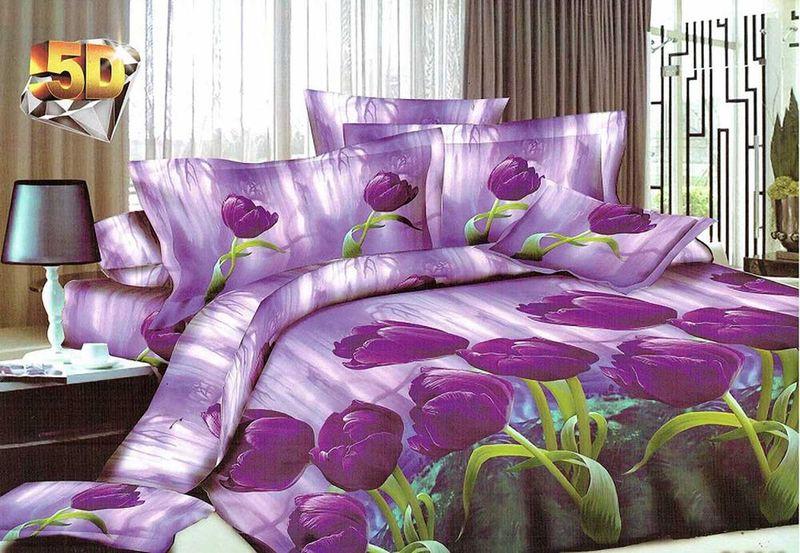 Комплект белья МарТекс Малация, 1,5-спальный, наволочки 70х70. 01-1196-101-1196-1