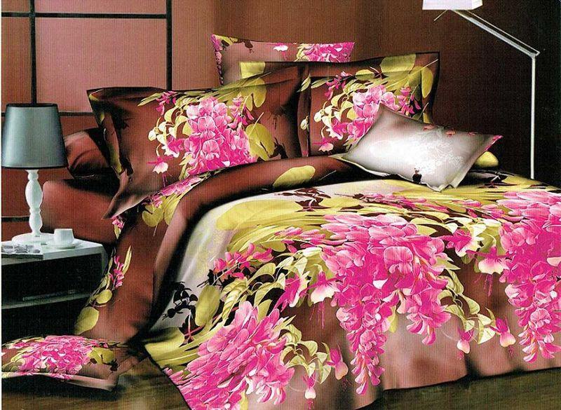 Комплект белья МарТекс Аэла, 1,5-спальный, наволочки 70х70. 01-1214-101-1214-1