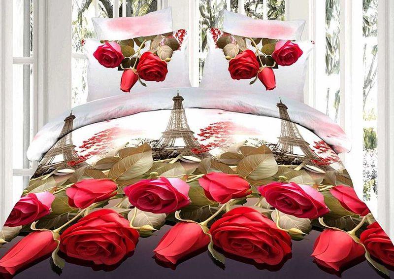 Комплект белья МарТекс Бора, 2-спальный, наволочки 70х70, цвет: красный, белый01-1285-2Комплект постельного белья МарТекс Бора состоит из пододеяльника, простыни и двух наволочек и изготовлен из качественной микрофибры. Постельное белье оформлено оригинальным ярким 5D рисунком и имеет изысканный внешний вид. Ткань микрофибра - новая технология в производстве постельного белья. Тонкие волокна, используемые в ткани, производят путем переработки полиамида и полиэстера. Такая нить не впитывает влагу, как хлопок, а пропускает ее через себя, и влага быстро испаряется. Изделие не деформируется и хорошо держит форму Приобретая комплект постельного белья МарТекс, вы можете быть уверенны в том, что покупка доставит вам и вашим близким удовольствие и подарит максимальный комфорт.