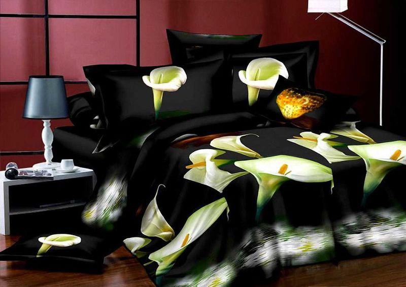 Комплект белья МарТекс Ночь, 1,5-спальный, наволочки 70х70. 01-1292-101-1292-1