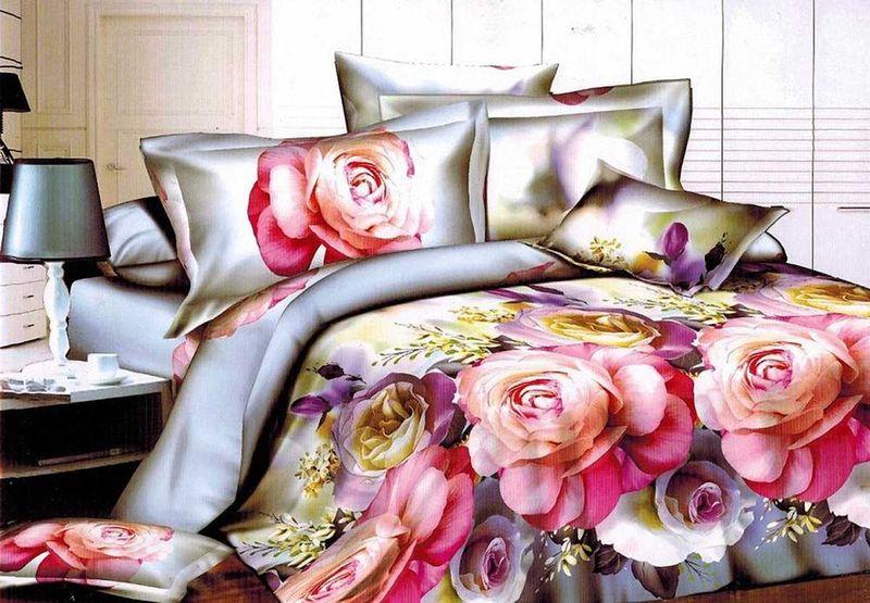 Комплект белья МарТекс Сафина, 1,5-спальный, наволочки 70х70. 01-1310-101-1310-1