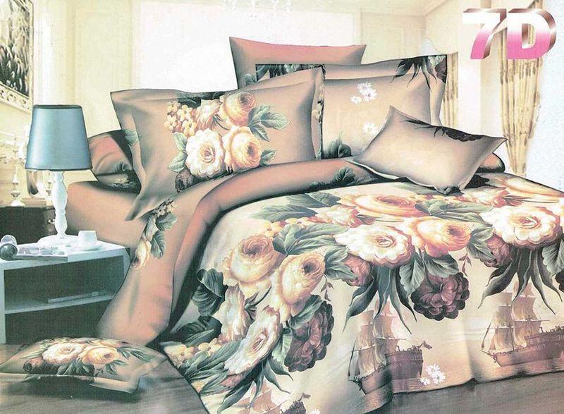 Комплект белья МарТекс, 1,5-спальный, наволочки 70х70. 01-1316-101-1316-1