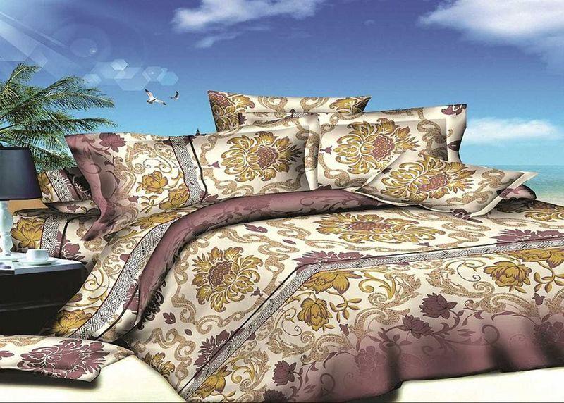 Комплект белья МарТекс, 1,5-спальный, наволочки 70х70. 01-1407-101-1407-1