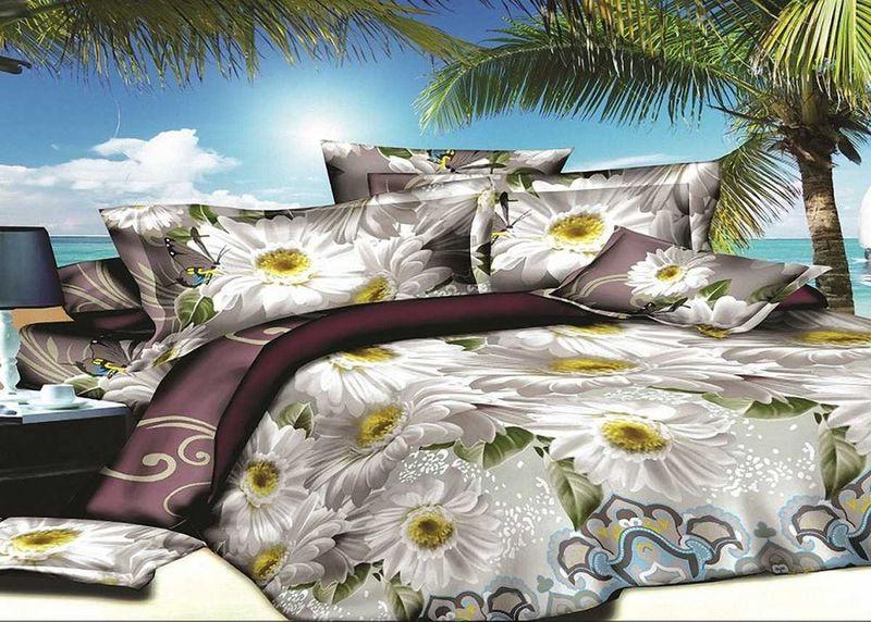 Комплект белья МарТекс, 1,5-спальный, наволочки 70х70. 01-1413-101-1413-1