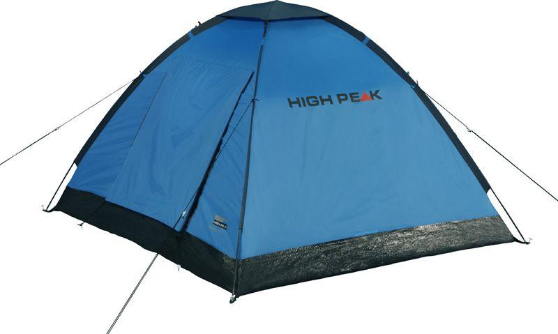 Палатка High Peak Beaver 3, цвет: синий, серый, 200 х 180 см. 1016710167Просторная палатка Beaver 3 High Peak с тентом-козырьком над входом. Палатка почти квадратная по периметру (200х180 см). Фиберглассовые дуги продеваются через рукава на внешнем тенте, и палатка устанавливается за считанные минуты даже в дождь. Материал тента имеет полиуретановое покрытие и водонепроницаемость не менее 1500 мм водяного столба. Швы проклеены. Это позволяет защититься от ветра и дождя. Вентиляционное окно расположено в верхней точке купола палатки и защищено тканевым грибом. Палатка имеет 4 оттяжки, что позволяет надежно ее фиксировать во время ветреной погоды. Вход в палатку защищает тканевый полог, а если погода жаркая, то можно оставить только москитную сетку на входе. Рекомендуем использовать эту палатку в летнее время для походов выходного дня. Дуги: Фибергласс 7,9 мм/Сталь 16 мм Тент: Полиэстер 190Т 1500 мм, швы проклеены Дно: Армированный полиэтилен (3000 мм)