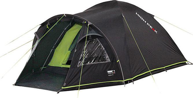 Палатка High Peak Talos 4, цвет: темно-серый, зеленый, 320 х 240 х 130 см. 1151011510Большая комфортная палатка Talos 4 отлично подойдет для походов с апреля по сентябрь. Её можно использовать как для трекинга, так и для семейных выездов. Палатка двухслойная, легко устанавливается за 5-7 минут. Сначала устанавливается внутренняя палатка из паропроницаемого материала. Если погода жаркая, и дождя не предвидится, то можно спать без внешнего тента. Вход во внутреннюю палатку можно закрыть тканевым пологом или москитной сеткой. Размер палатки по периметру составляет почти 5.3 кв. м и позволяет четверым отдыхающим с комфортом расположиться на ночлег. Если надо защититься от ветра и дождя, накиньте внешний тент и проденьте третью дугу в рукав тента для формирования тамбура. В тамбуре дно из армированного полиэтилена, на которое можно выложить вещи, не опасаясь их испачкать. Материал тента палатки имеет полиуретановое покрытие и водонепроницаемость не менее 4000 мм водяного столба. Это позволяет защититься от сильного ветра и дождя. Все швы проклеены термоусадочной лентой,...
