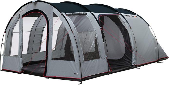 Палатка High Peak Benito 4, цвет: серый, 240/215 х 120/140 х 465 см. 1180511805Кемпинговая палатка Benito 4 High Peak для семейного отдыха в форме полубочка. Внешний каркас, дуги выполнены из стеклопластика. Палатка имеет две комнаты и два входа. Большой тамбур позволит комфортно разместить бивуачное снаряжение и продукты. Внутренняя палатка имеет съемный разделитель, что позволяет организовать пространство под вашу семью. Длина спального места 215 см, ширина 120 и 140 см позволяют комфортно разместиться внутри четырем человекам. Несколько вентиляционных окон позволяют хорошо проветривать палатку даже при закрытом входе. 2 окна из ПВХ с занавесками. На входе во внутреннюю палатку окно с москитной сеткой. Имеется держатель для фонарика, внутренние карманы. В комплекте идет прочный компрессионный мешок, который позволяет максимально компактно упаковать палатку для транспортировки. Дуги: Фибергласс 11 мм /Сталь 16 мм Тент: Полиэстер 4000 мм Дно: Армированный полиэтилен 4000 мм