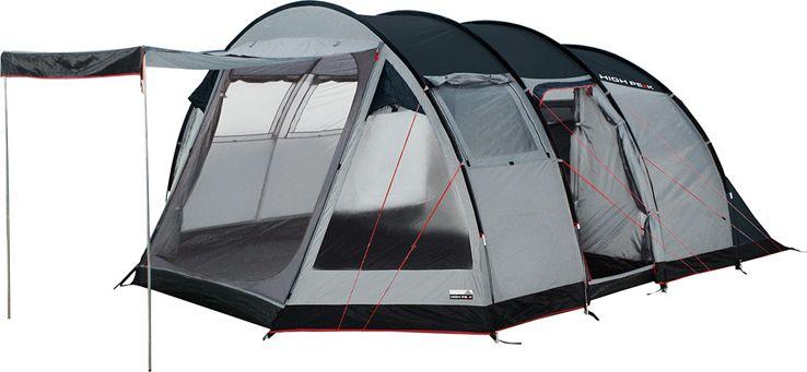 Палатка High Peak Durban 6, цвет: светло-серый, темно-серый, 300/220 х 120/240 х 525 см. 1222312223Большая кемпинговая палатка Durban 6 High Peak для семейного отдыха.Палатка имеет две комнаты и два входа. Большой тамбур позволит комфортно разместить бивуачное снаряжение и продукты. Швы проклеены. Внутренняя палатка имеет съемный разделитель, что позволяет организовать пространство под вашу семью. Длина спального места 220 см, ширина 120 и 240 см позволяют комфортно разместиться внутри шестерым туристам. Несколько вентиляционных окон позволяют хорошо проветривать палатку даже при закрытом входе. 2 окна из ПВХ с занавесками. На входе во внутреннюю палатку окно с москитной сеткой. Имеется держатель для фонарика, внутренние карманы. В комплекте идет прочный компрессионный мешок, который позволяет максимально компактно упаковать палатку для транспортировки. Дуги: Фибергласс 11 мм/сталь 16 мм Тент: Полиэстер 190Т 4000 мм Дно: Армированный полиэтилен