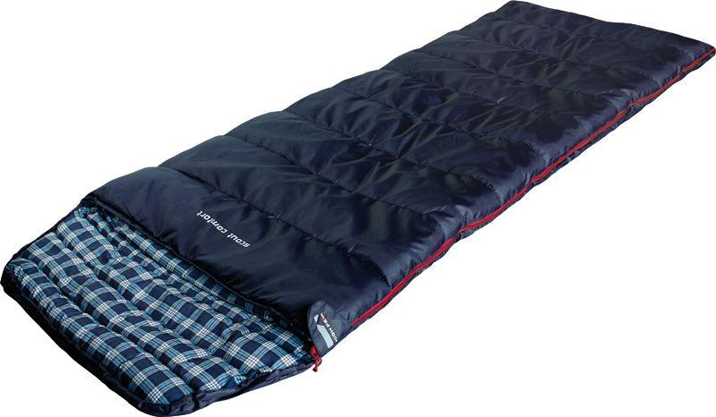 Спальный мешок-одеяло High Peak Scout Comfort, цвет: темно-синий, 80 х 220 см, левосторонняя молния. 2120821208Спальный мешок Scout Comfort High Peak можно использовать как для летних пеших путешествий, так и для семейных кемпинговых выездов. По размеру спальник подойдет как для юниоров, так и для взрослых ростом менее 185 см. Спальники, имеющие правую и левую молнию, могут состегиваться в один большой спальник. Внутренняя ткань спальника Scout Comfort High Peak шелковистая и очень приятная на ощупь. На боковой молнии два бегунка, которые позволяют расстегнуть спальник со стороны ног и сделать вентиляционное окно. Чтобы холодный воздух не проникал сквозь молнию, ее закрывает тепловой клапан. Спальник утеплен одним слоем силиконизированного утеплителя Dura Loft, смешанного с холлофайбером в соотношении 70%/30% 1х250 г/м2 + 1х250 г/м2. В комплекте со спальником идет транспортировочный чехол объемом 16,6 л. Левая молния. Внешняя ткань Полиэстер (с набивкой рипстоп) (Polyester) 185T Внутренняя ткань Паропроницаемый шелковистый полиэстер (Silk Polyester) 190T Утеплитель Dura Loft +...