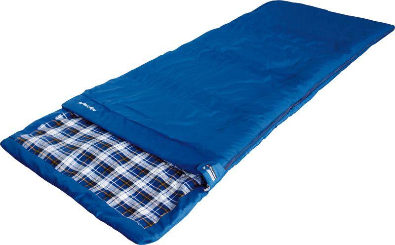 Спальный мешок-одеяло High Peak Highland, цвет: синий, 230 х 90 см, левосторонняя молния. 2123221232Спальный мешок Highland High Peak - лучший выбор для летних семейных путешествий. Спальник увеличенной ширины и длины позволяет не чувствовать дискомфорт даже при застегнутой боковой молнии. Если расстегнуть молнию, вы получите большое одеяло 180х230 см. Внутренняя ткань спальника выполнена из 100% хлопковой фланели, мягкой и шелковистой. Ткань приятна к телу и хорошо испаряет влагу. Вдоль молнии идет защита от закусывания замком молнии ткани спальника. Чтобы холодный воздух не проникал сквозь молнию, ее закрывает тепловой клапан. В верхней части молния фиксируется клапаном на липучке Velcro. На молнии два бегунка, которые позволяют расстегнуть спальник со стороны ног и сделать вентиляционное окно. Спальник утеплен слоем силиконизированного утеплителя Dura Loft, смешанного с холлофайбером в соотношении 70%/30% Верх 1х200 г/м2 + Низ 1х200 г/м2. В комплекте со спальником идет транспортировочный чехол. Внешняя ткань Шелковистый полиэстер (Silk polyester) 190T Внутренняя ткань...