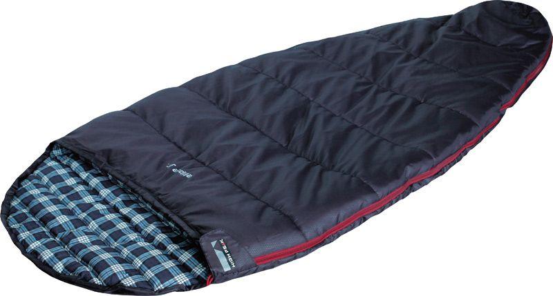 Спальный мешок High Peak Ellipse Junior, цвет: темно-синий, левосторонняя молния03/1/12Спальник High Peak Ellipse Junior - это версия летнего спального мешка для детей и подростков. Не рекомендуется использовать данный спальник при температуре ниже + 14°С. Внутренняя ткань спальника шелковистая и очень приятная на ощупь. На боковой молнии два бегунка, которые позволяют расстегнуть спальник со стороны ног и сделать вентиляционное окно. Чтобы холодный воздух не проникал сквозь молнию, ее закрывает тепловой клапан. Спальник утеплен одним слоем силиконизированного утеплителя Dura Loft, смешанного с холлофайбером в соотношении 70%/30% 1х200 г/м2 (200г/м2) + 1х200 г/м2 (200 г/м2). В комплекте со спальником идет компрессионный транспортировочный чехол объемом 6,6 л.