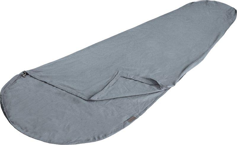 Вставка в спальный мешок High Peak TC Inlett Mummy, цвет: серый, 225 х 90/60 см. 235230-70-648Вкладыш High Peak TC Inlett Mummy используется со спальным мешком. Он изготовлен из смесовой ткани, состоящий на 80% из полиэстера и на 20% из хлопка. Легко стирается и быстро сохнет.В комплект входит мешок для хранения, изготовленный из синтетического материала.
