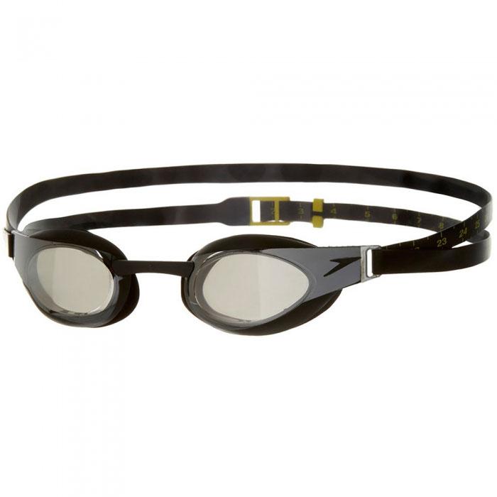 """Очки для плавания Speedo """"Fastskin Elite Goggle Mirror"""", цвет: черный, серый 8-082108137"""