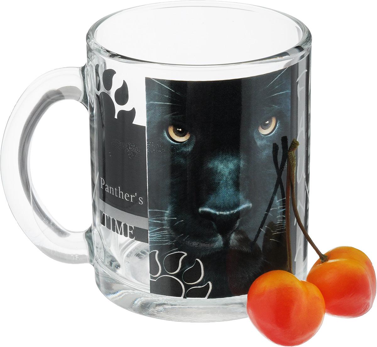Кружка OSZ Дикие кошки. Пантера, 320 мл04C1208-DKK_ПантераКружка OSZ Дикие кошки. Пантера изготовлена из стекла и декорирована принтом. Диаметр (по верхнему краю): 8 см. Высота: 9,5 см. Объем: 320 мл.