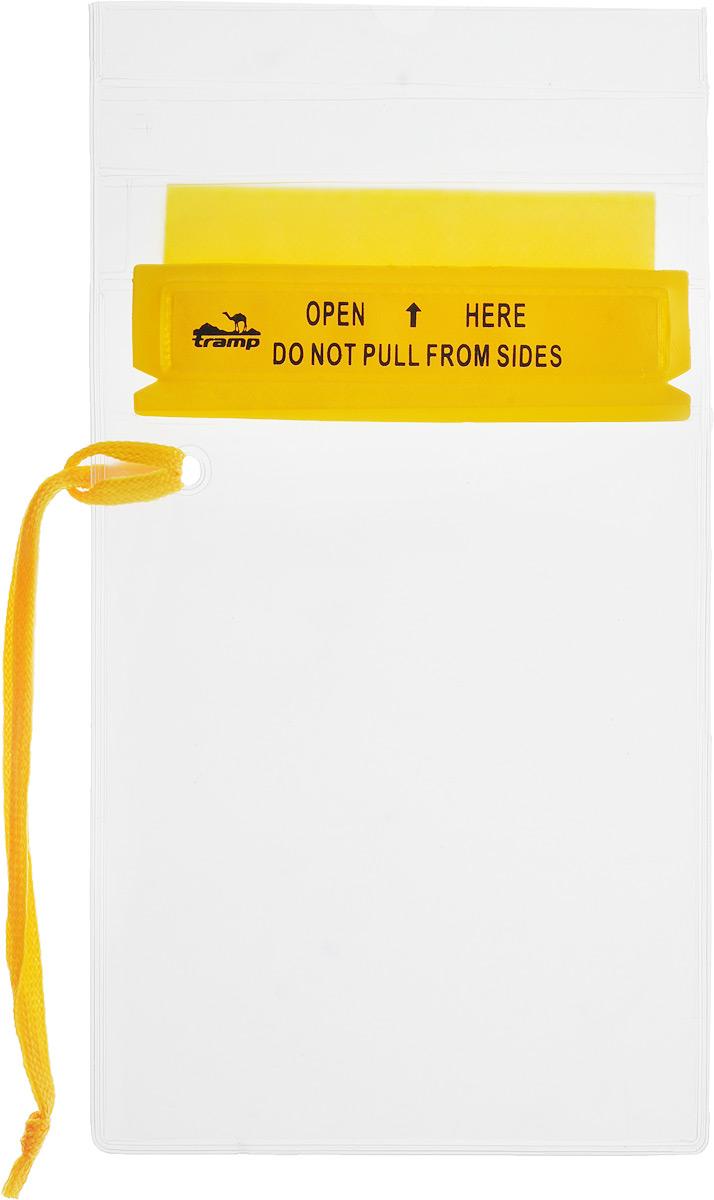 Гермопакет Tramp, цвет: желтый, 12,7 х 18,4 смTRA-025Плоский гермопакет Tramp предназначен для защиты документов, мобильного телефона и прочих важных мелочей от влаги. Незаменим в походах или экспедициях различной сложности. Размер: 12,7 см x 18,4 см.