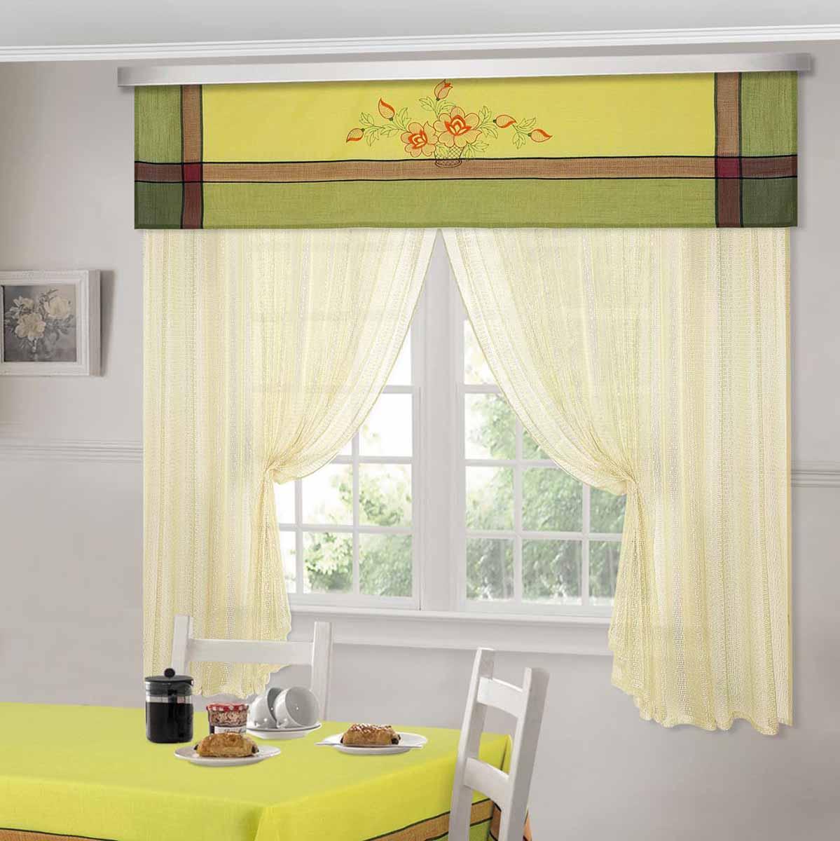 Комплект штор ТД Текстиль Шик, на ленте, цвет: фисташковый, высота 180 см. 9252610503Шторы выполнены из искусственной ткани под лен. Цвета в ассортименте. В наличии присутствуют скатерти из этой же ткани в двух размерах.