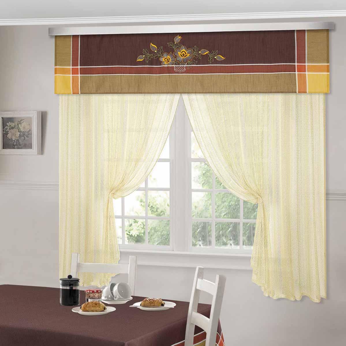 Комплект штор ТД Текстиль Шик, на ленте, цвет: венге, высота 180 см. 9252792527Шторы выполнены из искусственной ткани под лен. Цвета в ассортименте. В наличии присутствуют скатерти из этой же ткани в двух размерах.