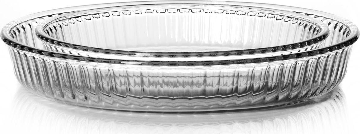 Набор посуды для СВЧ Pasabahce, 2 предмета. 159022159022Набор посуды для СВЧ 2 пр (круглые формы для запекания d 320 мм + d 260 мм) 2,6 л+1,6 л