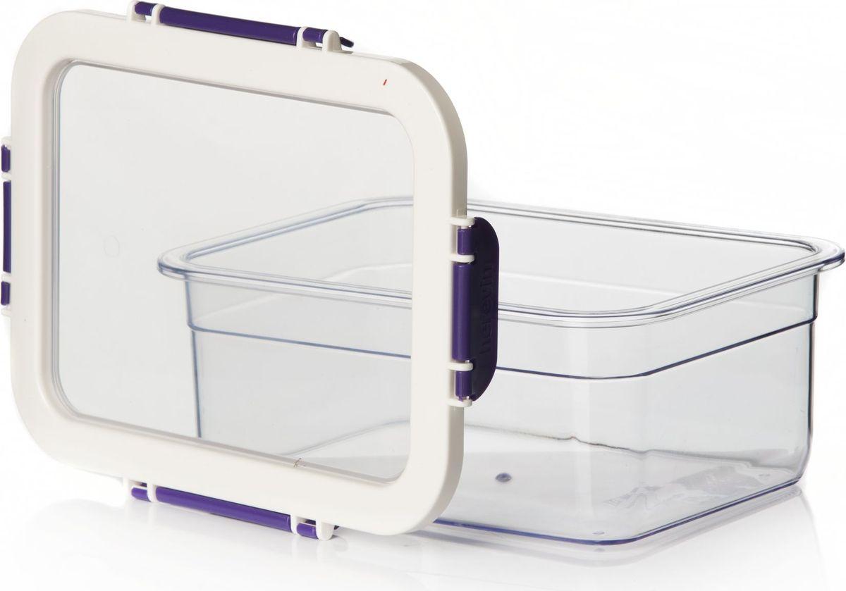 Контейнер для продуктов Pasabahce, цвет: фиолетовый, 2,2 л. 161420-003VT-1520(SR)Контейнер пластмас.для хранения продуктов V=2,2 л с фиолетовыми защелк.ручками