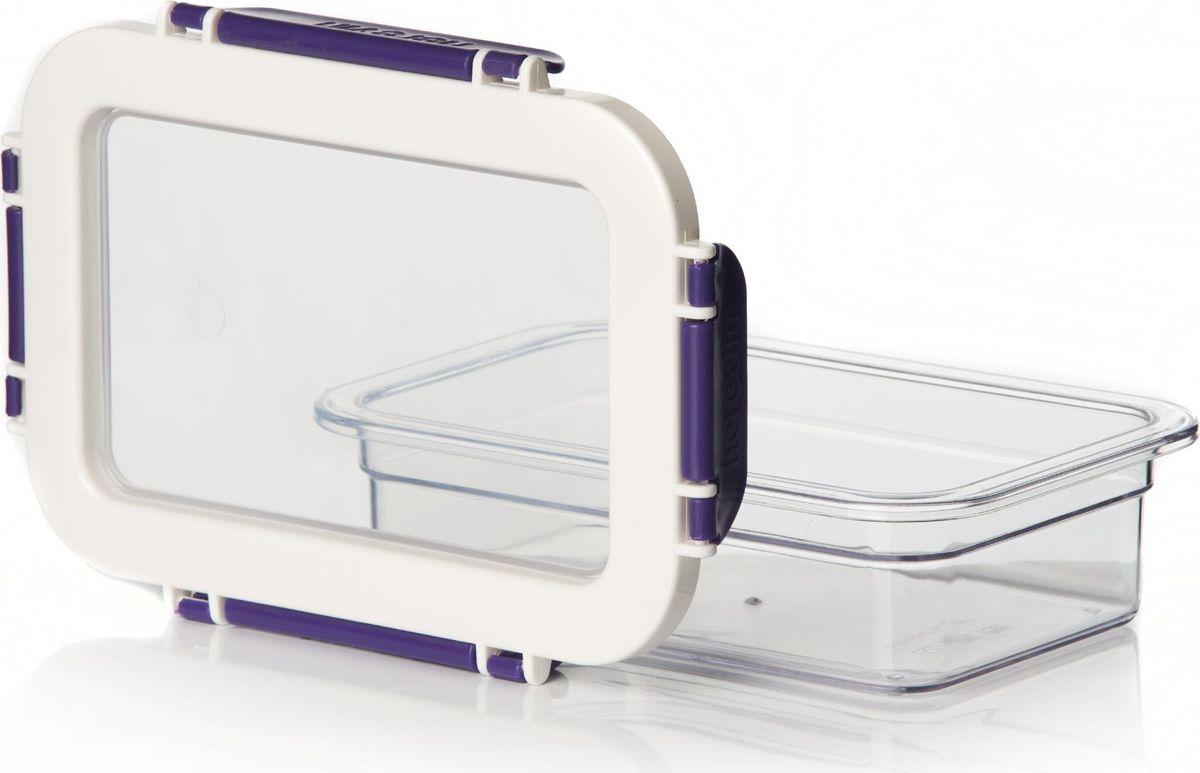 Контейнер для продуктов Pasabahce, цвет: фиолетовый, 600 мл. 161426-003VT-1520(SR)Контейнер пластмас. для хранения продуктов V=600 мл с фиолетовыми защелк.ручками