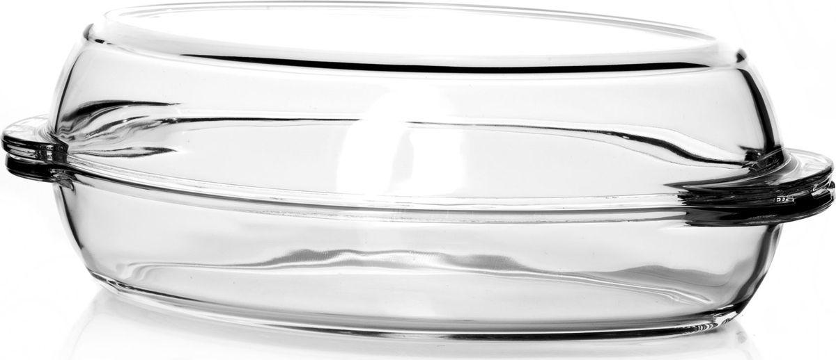 Утятница для СВЧ Pasabahce, с крышкой, 1,7 л. 5903259032Посуда для СВЧ овальная 1,7л + крышка 1,7л (утятница) 33,5*19*11 см