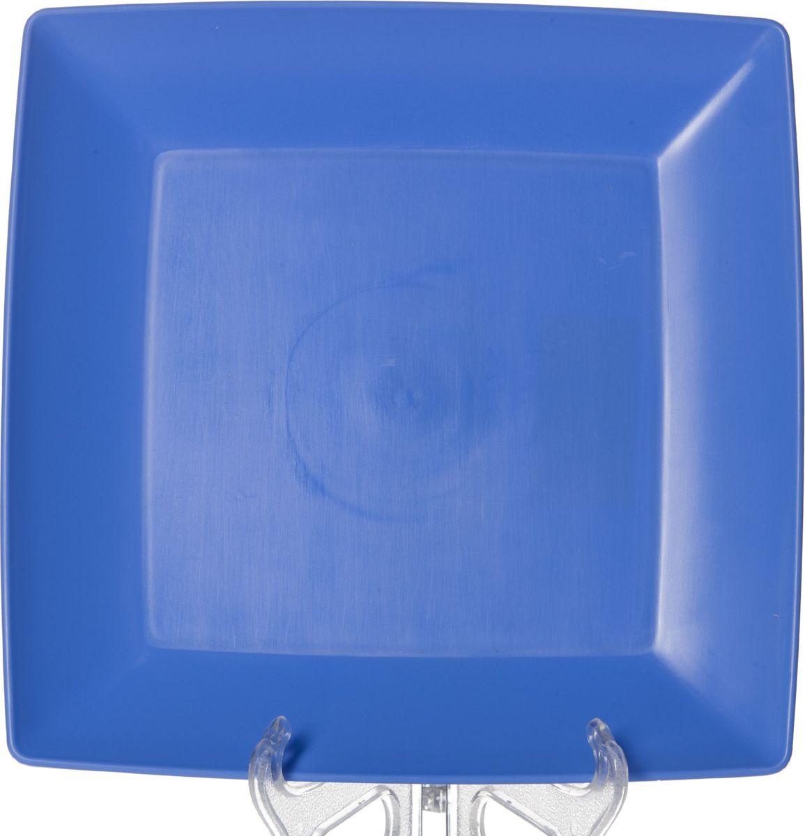 Тарелка мелкая Gotoff, 23,5 х 23,5 см. WTC-633VT-1520(SR)Тарелка квадратная мелкая 235*235*17