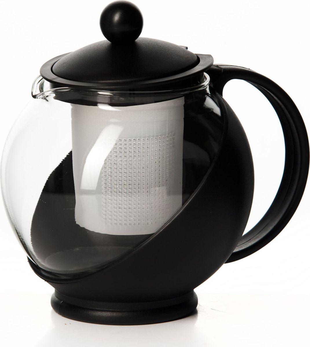 Чайник заварочный Gotoff, цвет: черный, 750 мл. XY-751PCM000001328Чайник 750 мл круглый 16*14 см
