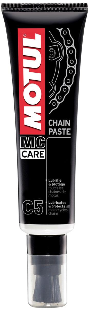Смазка цепи Motul С5 Chain Paste, 150 мл. 102984102984Смазка для цепей дорожных мотоциклов. Окрашена в белый цвет. Очень липкая. Тюбик оснащен кисточкой для нанесения. Все типы цепей: для стандартных и кольцеобразных втулок O-Ring, X-Ring, Z-Ring. Специально рекомендована для скоростных мотоциклов: Motul Chain Lube Road остается на цепи даже на очень большой скорости. Применяется для всех типов дорожных мотоциклов и картов.