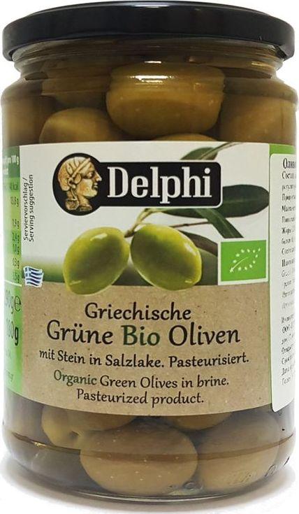 Delphi оливки био с косточкой в рассоле, 290 г0120710Органический продукт. Оливки являются важной составляющей средиземноморской кухни. Зелёные оливки с косточкой в рассоле - продукт для настоящих гурманов, которые ценят пряный вкус.