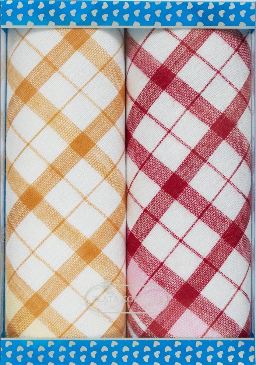 Платок носовой женский Zlata Korunka, цвет: белый, оранжевый, красный, 2 шт. 40221-28. Размер 43 см х 43 см40221-28Оригинальный женский носовой платок Zlata Korunka изготовлен из высококачественного натурального хлопка, благодаря чему приятен в использовании, хорошо стирается, не садится и отлично впитывает влагу. Практичный и изящный носовой платок будет незаменим в повседневной жизни любого современного человека. Такой платок послужит стильным аксессуаром и подчеркнет ваше превосходное чувство вкуса.