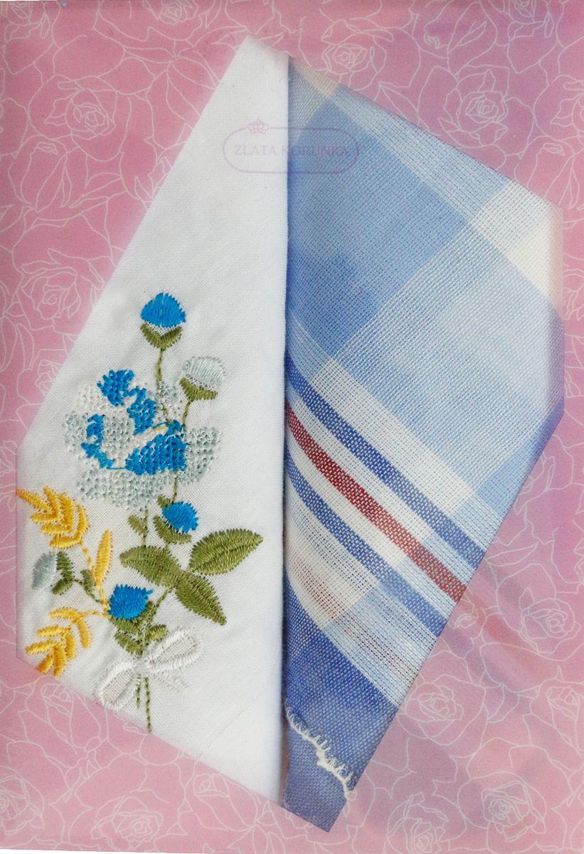 Платок носовой женский Zlata Korunka, цвет: мультиколор, 2 шт. 40222-35. Размер 29 см х 29 см40222-35Оригинальный женский носовой платок Zlata Korunka изготовлен из высококачественного натурального хлопка, благодаря чему приятен в использовании, хорошо стирается, не садится и отлично впитывает влагу. Практичный и изящный носовой платок будет незаменим в повседневной жизни любого современного человека. Такой платок послужит стильным аксессуаром и подчеркнет ваше превосходное чувство вкуса.