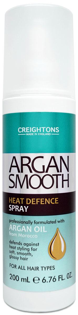 Creightons Увлажняющий спрей для волос с термозащитным действием с аргановым маслом, 250 мл3078Линия Argan Smooth специально разработана для ежедневного питания и оздоровления волос. Увлажняющий спрей для волос с термозащитным действием специально разработан для защиты волос от повреждения во время каждодневных горячих укладок. Усовершенствованная формула защищает волосы от теплового воздействия фена и других стайлинговых инструментов, при этом усиливая их воздействие на волосы. Cпрей обогащенный маслом Арганы делает волосы мягкими и гладкими.