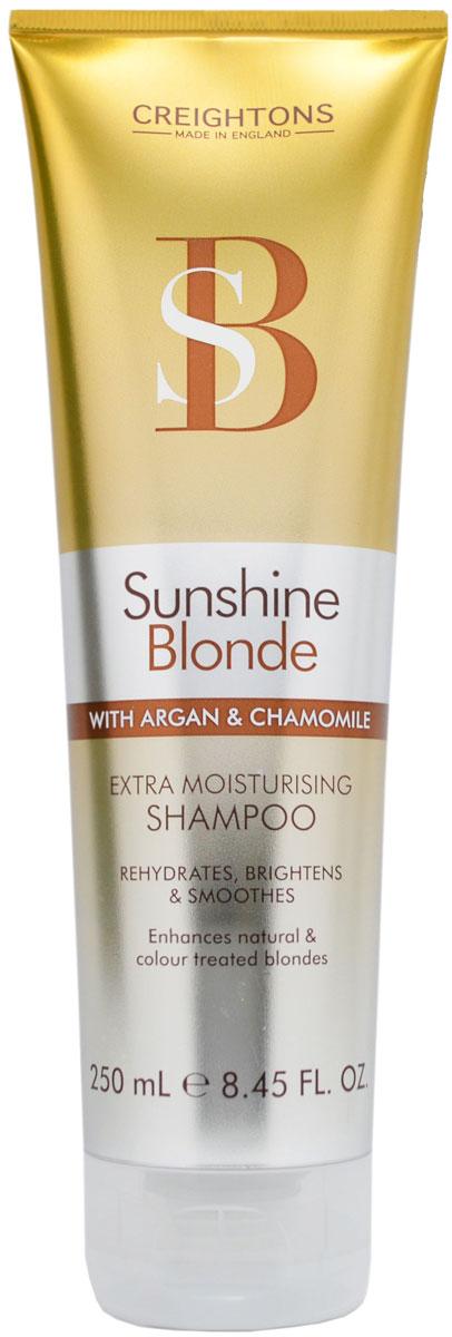 Creightons Увлажняющий шампунь для светлых волос Солнечное сияние, 250 млSN5500Лучший способ ухода за светлыми волосами. В состав шампуня входят Pro-Витамин В5, аргановое масло, экстракт ромашки и солнцезащитные компоненты, которые помогают продлить яркость и сияние выбранного вами оттенка. НЕ ОКРАШИВАЕТ ВОЛОСЫ.