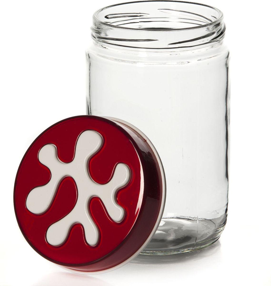 Банка для сыпучих продуктов Pasabahce, 660 мл. 135367-205135367-205Емкость прозрачная с цветной крышкой 9*9*14,5 см