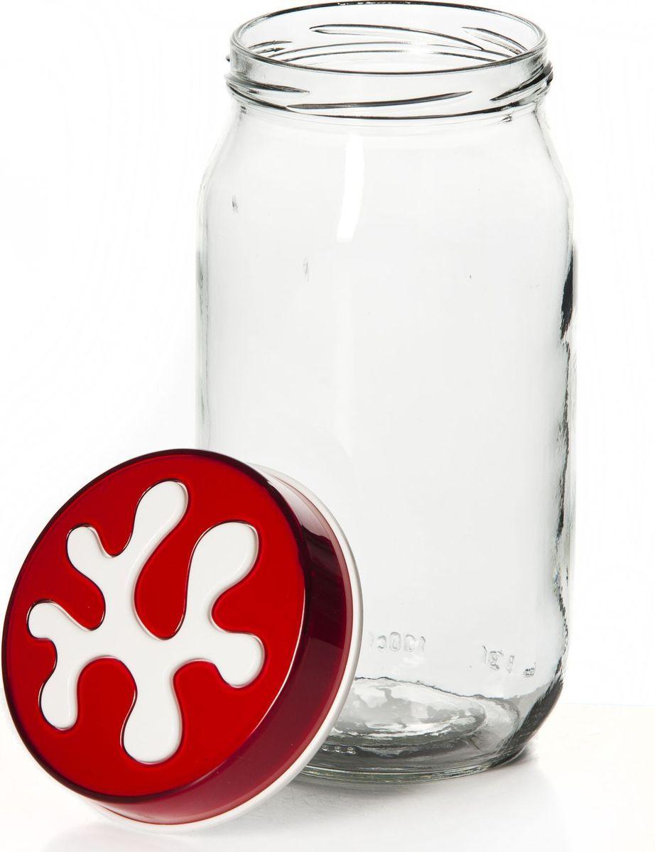 Банка для сыпучих продуктов Pasabahce, 1 л. 135377-000135377-000Емкость стеклян. с пласт.фиолетовой крышкой V=1,0 л