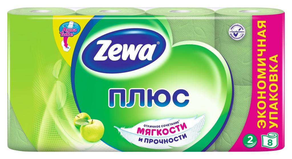 Туалетная бумага Zewa Плюс Яблоко, 2 слоя, 8 рулонов02.03.05.144006Туалетная бумага Zewa Плюс - это отличное сочетание мягкости и прочности. Она одобрена дерматологами и прекрасно подойдет всем членам вашей семьи – и тем, кому нужна мягкая бумага, и тем, кому важна прочность. Позаботьтесь о себе и своих близких вместе с Zewa. Сенсация! Со смываемой втулкой Aqua Tube! Зеленая 2-х слойная туалетная бумага с ароматом яблока 8 рулонов в упаковке Состав: вторичное сырье Производство: Россия