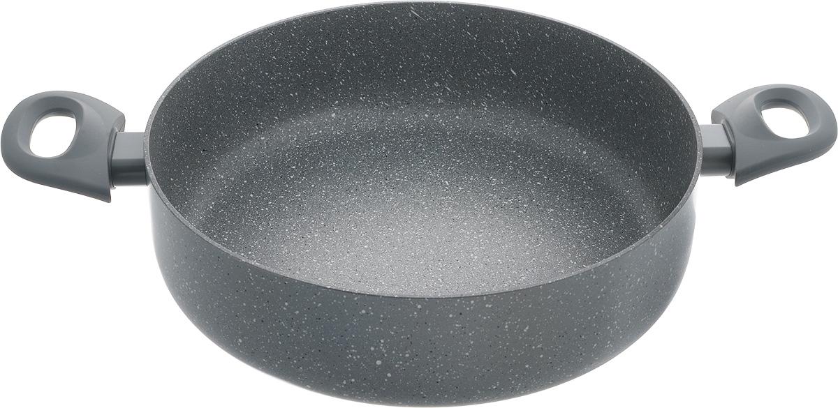 Сотейник Fissman Garda, с антипригарным покрытием, 4,4 лAL-4485.28Сотейник Fissman Garda изготовлен из алюминия с антипригарным покрытием TouchStone, состоящим из нескольких слоев натуральной каменной крошки на основе минеральных компонентов. Такое покрытие долговечно, безопасно для здоровья и окружающей среды, оно обладает великолепными антипригарными свойствами. Сотейник оснащен удобными бакелитовыми ручками, которые не нагреваются в процессе приготовления пищи и не скользят в мокрых руках. Сотейник создан, чтобы удовлетворить потребности самых взыскательных кулинаров и профессиональных шеф-поваров. Это результат сочетания уникального производственного процесса, современного дизайна, непревзойденного качества и использования передовых сертифицированных материалов. Подходит для использования на газовых, электрических, стеклокерамических и индукционных плитах. Можно мыть в посудомоечной машине. Ширина сотейника (с учетом ручек): 42,5 см.