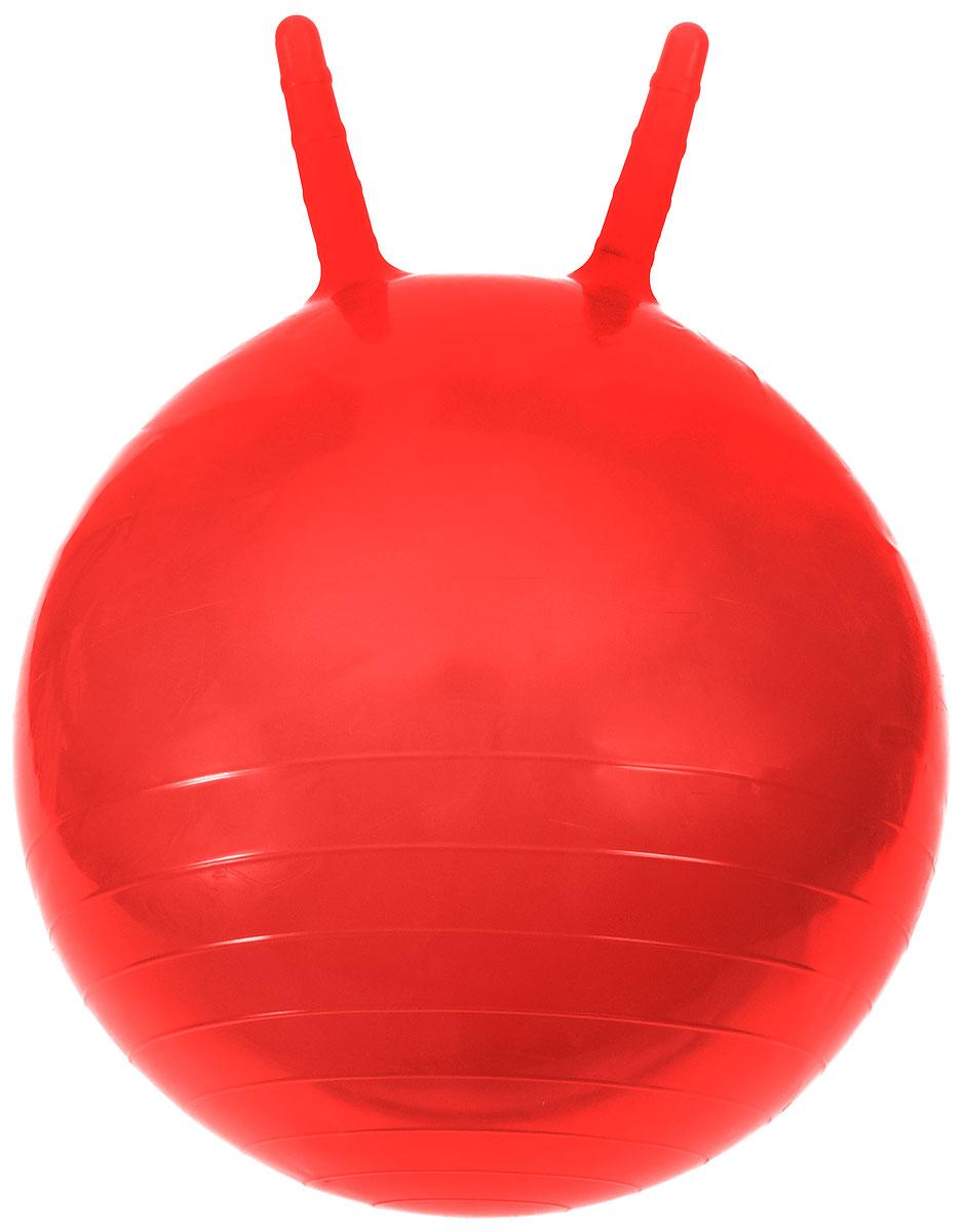 МалышОК! Мяч Прыгун с рожками цвет красный 50 см