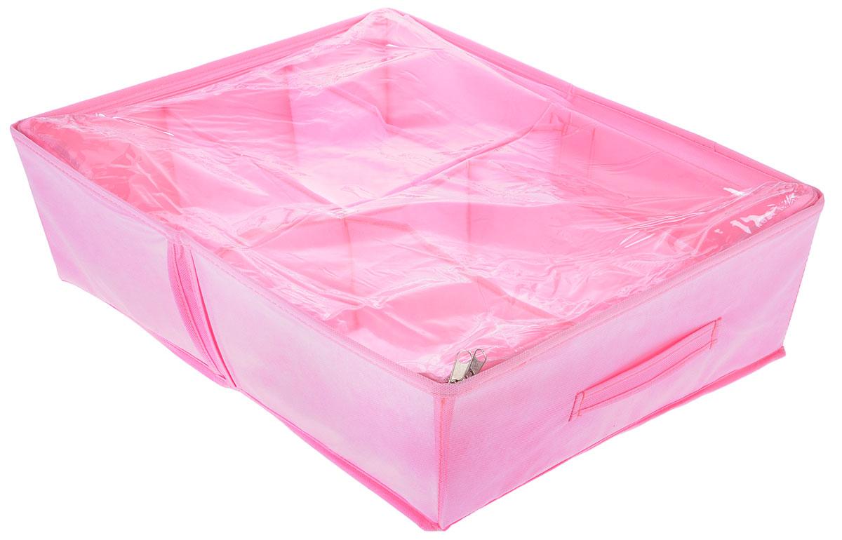 Кофр для обуви Все на местах Minimalistic, цвет: розовый, 6 отделений, 53 х 40 х 15 см1014004Компактный складной органайзер изготовлен из высококачественного нетканого материала, который обеспечивает естественную вентиляцию. Материал позволяет воздуху свободно проникать внутрь, но не пропускает пыль. Органайзер отлично держит форму, благодаря вставкам из ПВХ. Изделие имеет 6 секций для хранения обуви. Такой органайзер позволит вам хранить обувь компактно и удобно. Размер секции: 26,5 х 20 см.
