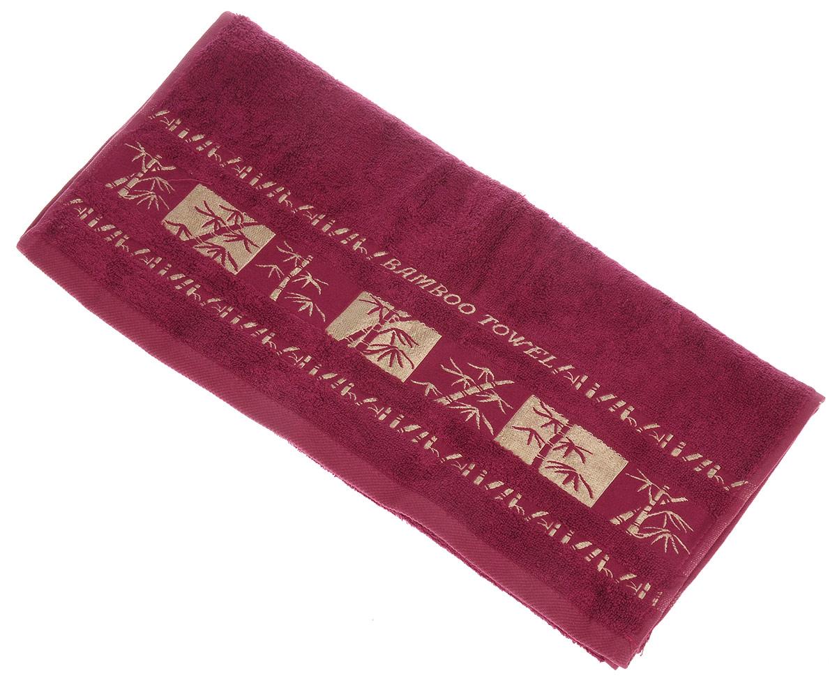 Полотенце Brielle Bamboo Gold, цвет: бургунди, 50 х 90 см1212Полотенца ТАС Приятно удивляют и дают возможность почувствовать себя творцом окружающего декора. Махровая ткань – официальное название «фроте», народное – «махра». Фроте – это натуральная ткань, поверхность которой состоит из ворса (петель основных нитей). Ворс может быть как одинарным (односторонним), так и двойным (двусторонним).