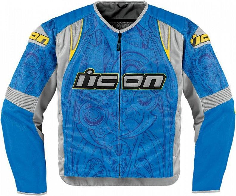 Мотокуртка Icon Icon Overlord Sportbike SB1, цвет: синий. Размер SGESS-306Overlord Sportbike SB1 – это одна из лучших текстильных мотокурток от Icon, созданная на основе кожаного прототипа Overlord. Изготовленная из специальной, мелкоячеистой износостойкой ткани, она обеспечит высокий уровень комфорта, свободу движений и отличный внешний вид. При этом показатели защиты ничуть не уступают модели-предшественнице, выполненной из кожи – традиционные вставки биопены в мотоциклетной куртке Overlord Sportbike SB1 дополнены внешними накладками из литого пластика и обеспечивают безопасность райдеру, существенно снижая риск получения травм в случае аварии.