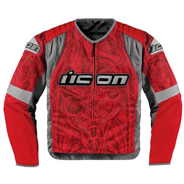 Мотокуртка Icon Icon Overlord Sportbike SB1, цвет: красный. Размер Lone116Overlord Sportbike SB1 – это одна из лучших текстильных мотокурток от Icon, созданная на основе кожаного прототипа Overlord. Изготовленная из специальной, мелкоячеистой износостойкой ткани, она обеспечит высокий уровень комфорта, свободу движений и отличный внешний вид. При этом показатели защиты ничуть не уступают модели-предшественнице, выполненной из кожи – традиционные вставки биопены в мотоциклетной куртке Overlord Sportbike SB1 дополнены внешними накладками из литого пластика и обеспечивают безопасность райдеру, существенно снижая риск получения травм в случае аварии.