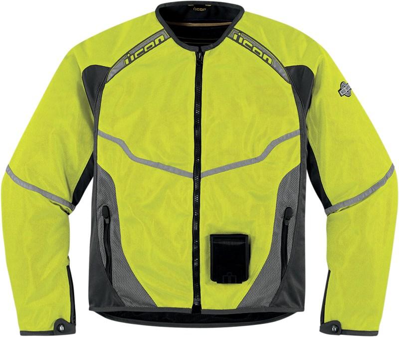 Мотокуртка Icon Icon Anthem Mesh Mil-spec, цвет: желтый. Размер Lone116Основа из износостойкого воздухопроницаемого текстиля Fighter Mesh, свободный покрой и СЕ-сертифицированные защиты локтей и плеч в комплекте с защитой спины из биогубки двойной плотности обеспечивают как надежную защиту, так и высокую мобильность.