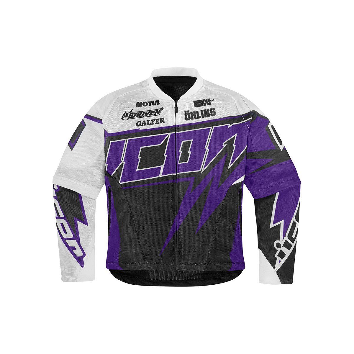 Мотокуртка женская Icon Icon Spaztyk Street Jersey, цвет: фиолетовый. Размер XS2822-0657