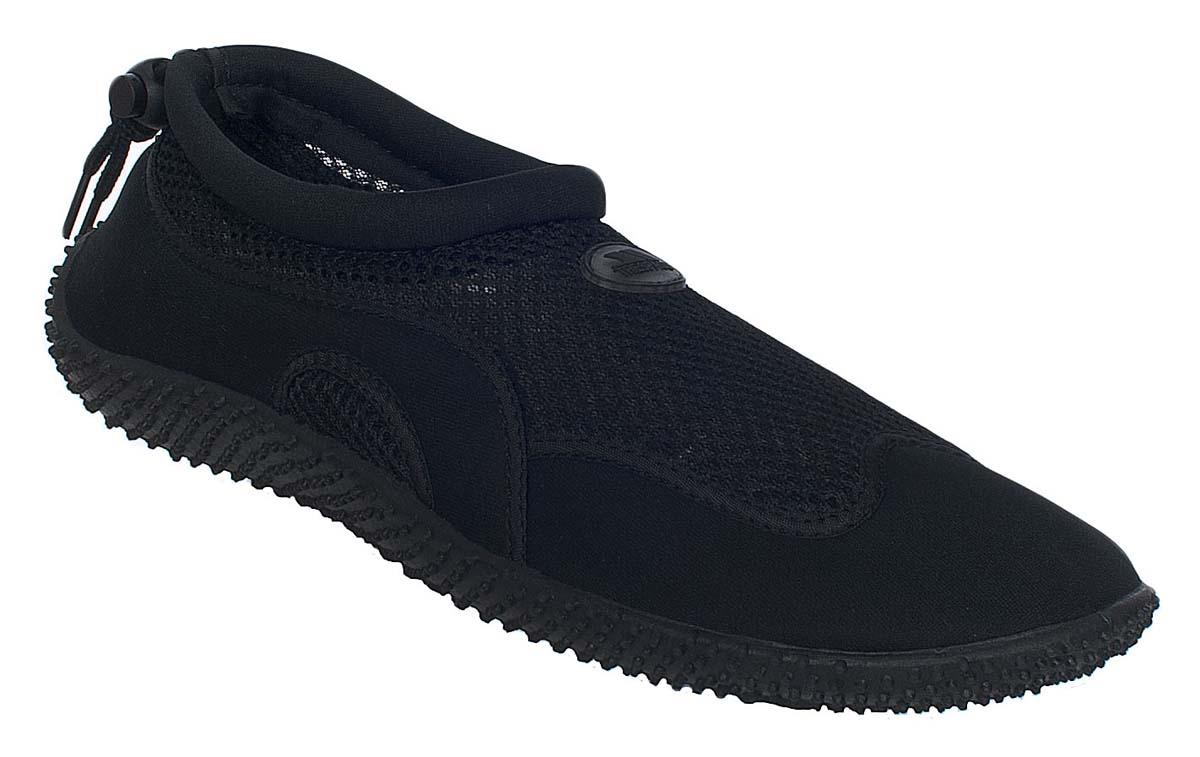 Обувь для кораллов Trespass Paddle, цвет: черный. UAFOBEI10001. Размер 46UAFOBEI10001Обувь для кораллов Trespass Paddle предназначена для пляжного отдыха, плавания в открытой воде, а также для любых видов водного спорта. Модель выполнена из полиуретана и сетчатого материала. Резиновая подошва удобна и защищает ступни ног при хождении по каменистому дну, а также от горячего песка при хождении по пляжу. Аквашузы очень легкие и быстро сохнут. Удобная регулируемая шнуровка плотно удерживает обувь на ноге, предотвращая ее соскальзывание при плавании и занятиях водными видами спорта.