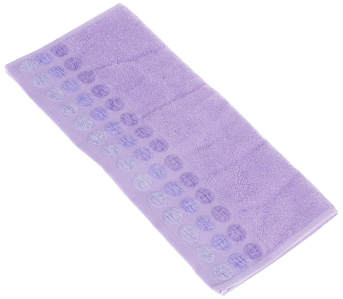 Полотенце Brielle Point, цвет: пурпурный, 50 х 90 см1207Полотенца ТАС Приятно удивляют и дают возможность почувствовать себя творцом окружающего декора. Махровая ткань – официальное название «фроте», народное – «махра». Фроте – это натуральная ткань, поверхность которой состоит из ворса (петель основных нитей). Ворс может быть как одинарным (односторонним), так и двойным (двусторонним).