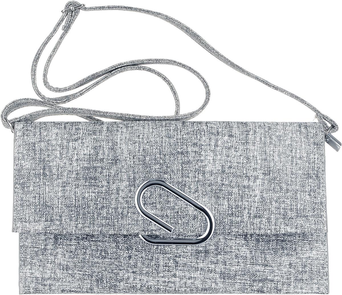 Клатч женский OrsOro, цвет: серый. D-019/4D-019/4Клатч женский OrsOro выполнен из искусственной кожи. Изделие оснащено съемным плечевым ремнем, длина которого регулируется с помощью пряжки. Также сумка имеет съемный ремешок, с помощью которого изделие можно носить на запястье. Сумка закрывается клапаном на металлический фиксатор. Внутри расположено два отделения, одно из которых закрывается на молнию. Также внутри расположен один вшитый карман на молнии.